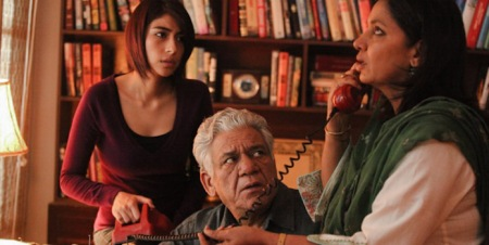 Pakistani artiste Meesha Shafi, Indian actor Om Puri and Mira Nair