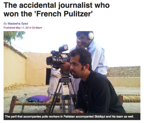 Screenshot taken from Dawn.com — Taha Siddiqui during a shoot.