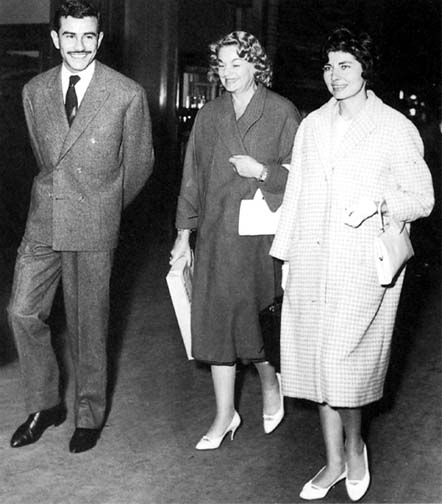 Soraya with her mother, Eva Karl, and brother, Bijan